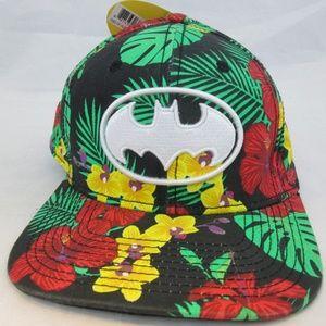 Batman Hawaiian Floral Print Hat NWT